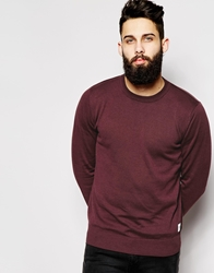 Only And Sons Knitted Cotton Crew Neck Jumper Sassafras
