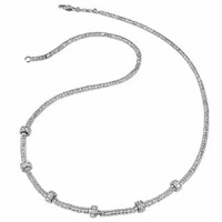 Torrini Rondelle Moving Mini White Gold And Diamond Necklace