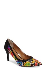 J. Renee Women's Camall Embroidered Pointy Toe Pump