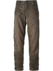 High 'Ahoy' Coated Jeans Brown