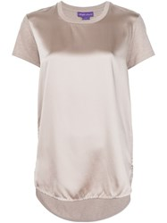 Ralph Lauren Black Label Panelled T Shirt Nude And Neutrals