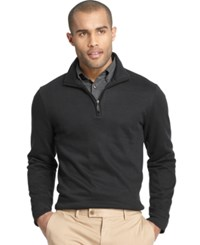 Van Heusen Spectator 1 4 Zip Sweater Black