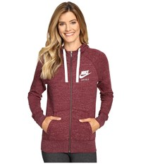 Nike Gym Vintage Full Zip Hoodie Night Maroon Sail Women's Sweatshirt Night Maroon Sail