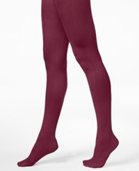 Hue Diamond Texture Tights Beet Red