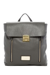 Valentino By Mario Valentino Chico Genuine Leather Backpack Gray