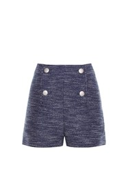 Balenciaga Button Front Tweed Shorts