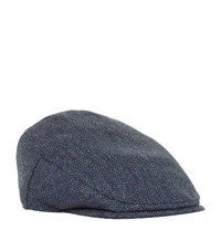 Christy Balmoral Tweed Flat Cap Unisex Blue