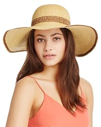 Kathy Jeanne Two Tone Floppy Hat Natural Brown