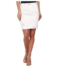 Ag Adriano Goldschmied The Erin Skirt Vintage White Recontructed Women's Skirt