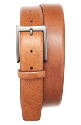 Men's Trafalgar 'Troy' Leather Belt Tan