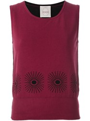 Eggs Knit Top Red
