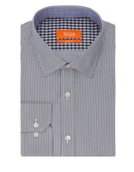 Tallia Orange Slim Fit Striped Sportshirt Blue