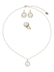 Mikey Pearl Marquise Crystal Set And Ring
