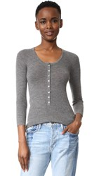Tibi Scoop Neck Pullover Heather Grey
