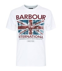 Barbour International Hydro Motorcycle Print T Shirt Male White