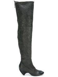 Marsell Low Heel Over The Knee Boots Black