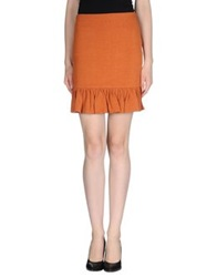 Ganni Mini Skirts Rust