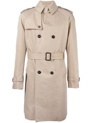 Mackintosh Double Breasted Trench Coat Nude Neutrals