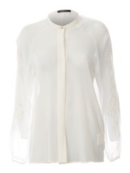 Red Soul Formal Blouse With Laced Embellishment Off White