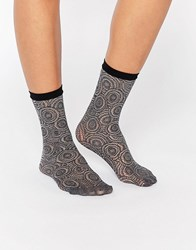 Jonathan Aston Peacock Net Anklet Sock Grey Marl