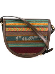 Etro Embroidered Flap Crossbody Bag