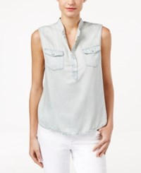 Calvin Klein Jeans Sleeveless Denim Top Light Blue