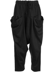 Lost And Found Rooms Cropped Harem Trousers Black