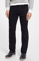 7 For All Mankind 'The Standard Luxe Performance' Straight Leg Jeans Nightshade Black