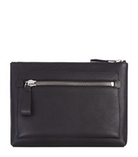 Tom Ford Large Grain Leather Portfolio Unisex Black