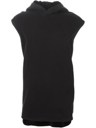 Givenchy Sleeveless Oversize Hoodie Black