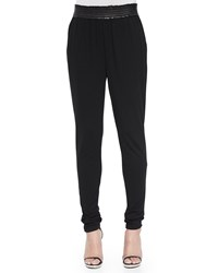 Michael Kors Satin Trim Jogger Pants Black