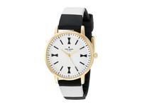 Kate Spade Crosby Ksw1037 White Black On Gold Watches