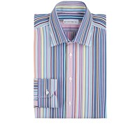 Etro Variegated Stripe Dress Shirt Multi