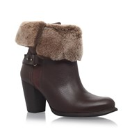Ugg Jane High Heel Ankle Boots Brown