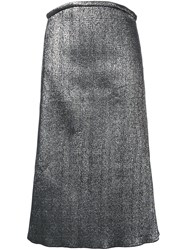 Ellery Metallic Effect Skirt