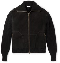 Tomas Maier Toas Aier Nordic Wool Panelled Shearling Bober Jacket Black