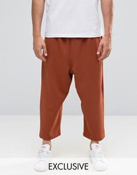 Reclaimed Vintage Relaxed Culottes Rust Orange