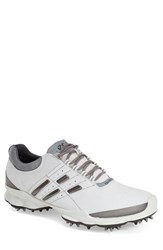 Men's Ecco 'Biom' Hydromax Waterproof Golf Shoe White Silver