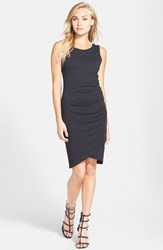 Women's Leith Ruched Body Con Tank Dress Black Jet