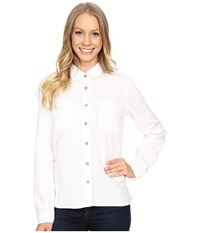 Mountain Hardwear Bridger Long Sleeve Shirt White Women's Long Sleeve Button Up