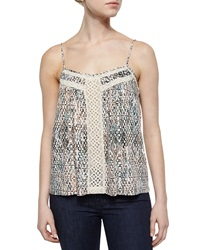 Ella Moss Lace Inset Printed Camisole