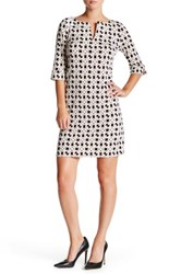 Laundry By Shelli Segal Elbow Length Sleeve Shift Dress Pink