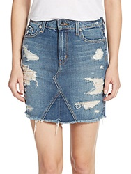 Genetic Los Angeles Gordon Distressed Denim Miniskirt Sanctuary