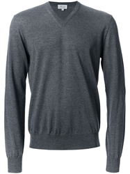 Faconnable Faconnable V Neck Sweater Grey