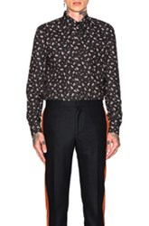 Givenchy Cuban Fit Floral Print Shirt In Black Floral Black Floral