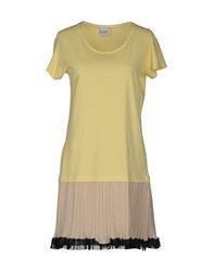 Pf Paola Frani Dresses Short Dresses Women Light Yellow