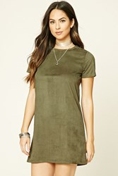Forever 21 Faux Suede Mini T Shirt Dress