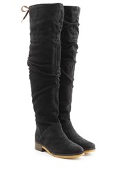 See By Chloe Suede Over Knee Boots Black