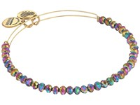 Alex And Ani Northern Lights Brilliance Beaded Bangle Shiny Gold Bracelet Metallic