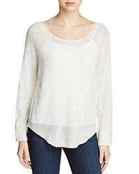 H. One Open Knit Sweater Off White